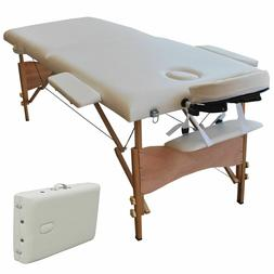 "Giantex 84""l Portable Massage Table Facial SPA Bed Tattoo W/"