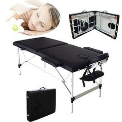 "84"" L Portable Massage Table Aluminum Facial SPA Bed Tattoo"