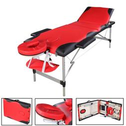 """84""""L Portable Massage Table w/Free Carry Case Chair Spa Faci"""