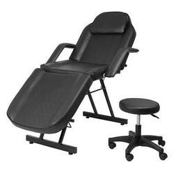 Adjustable Hydraulic Massage Bed Chair w/stool Beauty Spa Ta