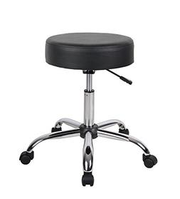 Height Adjustable Doctor's Stool with Dual Wheel Color: Blac