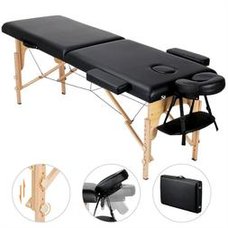 Adjustable Massage Bed 2 Sections Folding Massage Couch Port