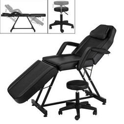 Adjustable Massage Bed Chair Table W/ Hydraulic stool Beauty