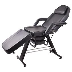 Giantex Adjustable Salon SPA Black Massage Bed Tattoo Chair