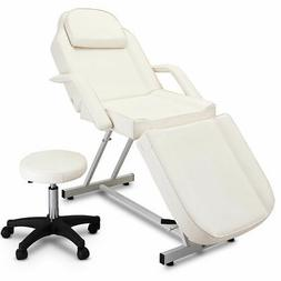 Adjustable Tattoo Massage Bed Facial Beauty Barber Chair w/H