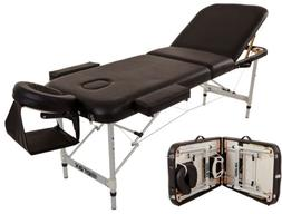 Merax Aluminium 3 Section Portable Massage Table Facial SPA