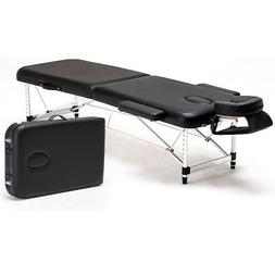 Aluminum 2 Fold Massage Table Portable Facial Parlor SPA Bed