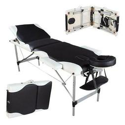 Aluminum 3 Fold Massage Table Facial SPA Bed w/Free Carry Ca