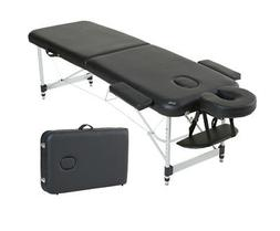 "Aluminum Light Weight 84"" 2-Section Portable Massage Table F"