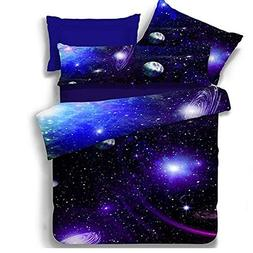 Babycre Pro Blue Galaxy Print 3d Bedding Sets Full Duvet Cov