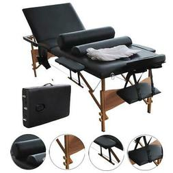 "Best Black 3 Pad 84""Portable Massage Table Facial Bed Bolste"