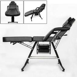 Black Adjustable Massage Facial Table Bed Chair Barber Beaut