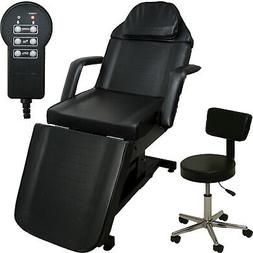 black electric massage facial table bed chair