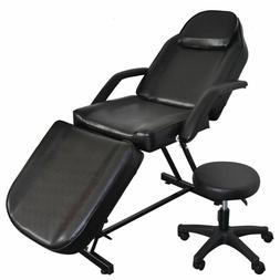 Black Facial Massage Salon Bed Spa Tattoo Massage Bed Table