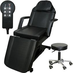 Black Electric Massage Facial Table Bed Chair Barber Beauty