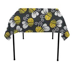 GOAEACH Bumblebee Rectangular Square Table Cloths Polyester