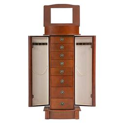 BestMassage Jewelry Cabinet Jewelry Chest Jewelry Armoire Wo