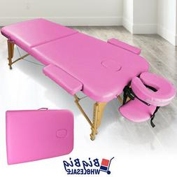 Carry Case Foldable Portable Massage Table Bed Spa Facial Sa