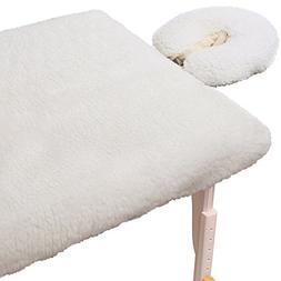 ForPro Comfy Soft Luxury Fleece Pad Set, Natural, Extra Soft
