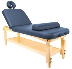 Master Massage Dearborn Stationary Massage Table, Blue 30 in
