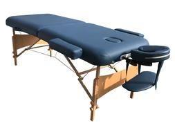 """Deluxe Blue Extra Wide 30""""W Professional Portable Massage Ta"""