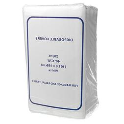 Disposable Non-Woven Exam Bed Covers, 20 Sheets, 40 Inches x