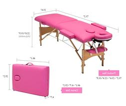EARTHLITE Portable Massage Table Dark Pink -Foldable Treatme