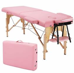 EARTHLITE Portable Massage Table Light Pink -Foldable Treatm