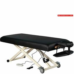 electric lift massage table black