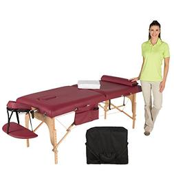 """Exerpeutic Emerald Ruby 30"""" Ultimate Therapist Massage Table"""