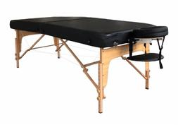"EXTRA Wide Portable Massage Table W/ FREE CARRY CASE - 34"" W"