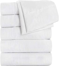 Utopia Bedding Flat Sheet 6 Pack Brushed Microfiber - Hotel
