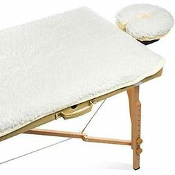 "Fleece Massage Table Pad "" Face Cradle Set - Soft And Comfor"