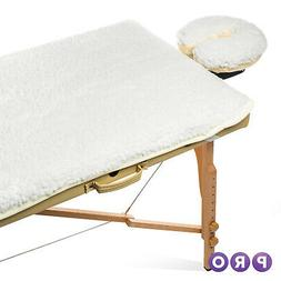 Fleece Salon Spa Massage Table Pad & Face Cradle Bed Covers