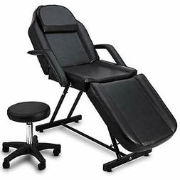 Giantex Massage Table Facial Bed Chair For Spa With Stool, A