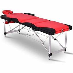Giantex Spa Beds Massage Tables 84&quotL 3 Section Portable