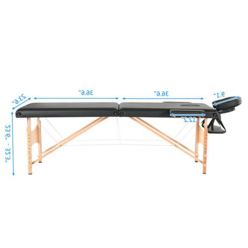 2 Fold Heavy Duty Portable Table Carry Tattoo Bed