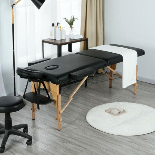 84''L Massage Table 2-Fold Adjustable Portable Spa/Salon/Tat