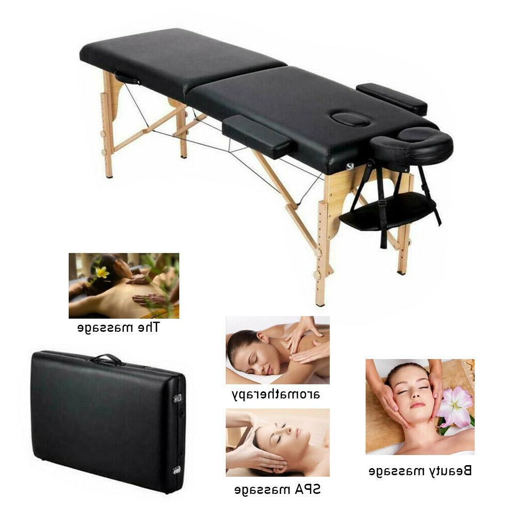 2 fold portable massage table chair bed