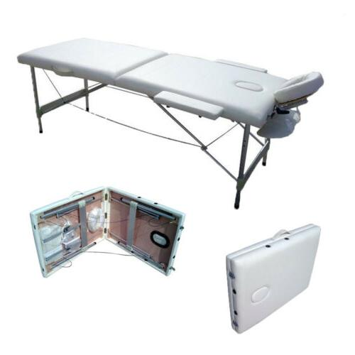 2 Pad Portable Table Facial SPA Tattoo w/Carry Case