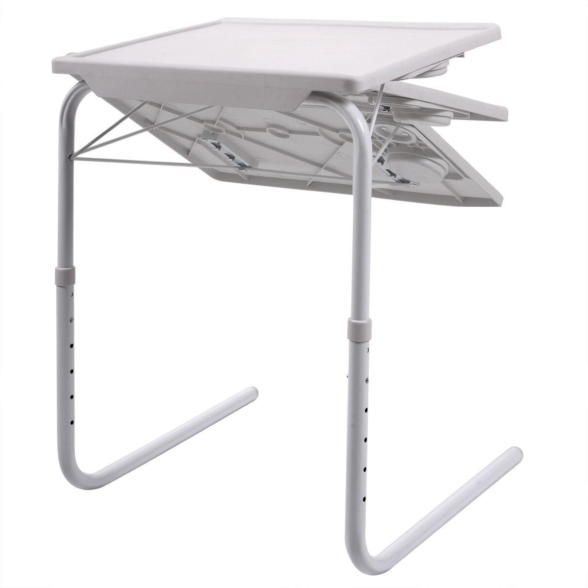 2 Table Adjustable Tray W/Cup Holder
