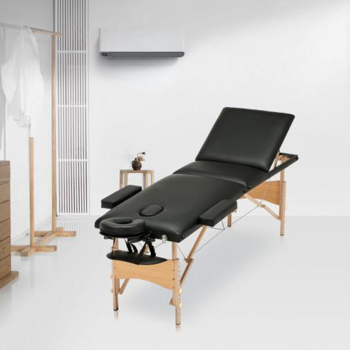 "84""L 3 Fold Massage Table Bed Tattoo with Carry Case"
