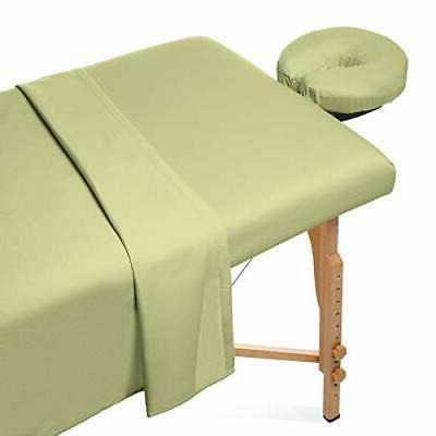 3 piece microfiber massage table sheet set