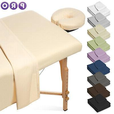 3pc microfiber massage table sheet set salon