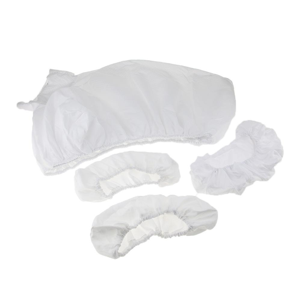 4 <font><b>Massage</b></font> Bed Fitted Sheets Pad <font><b>Face</b></font> Down Rest Pillow White Rose Purple