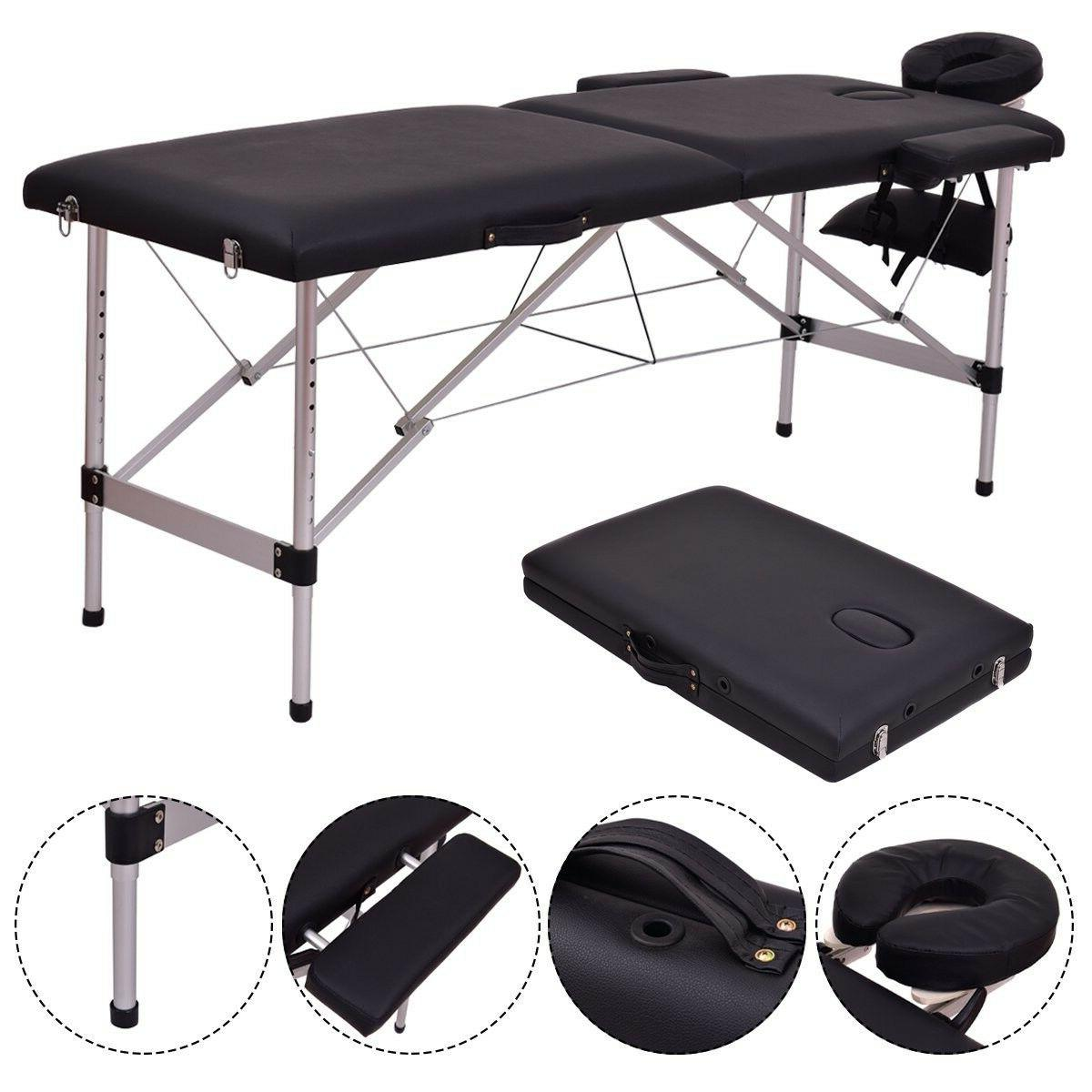 Giantex 2 Section Portable Table Facial Bed w/F