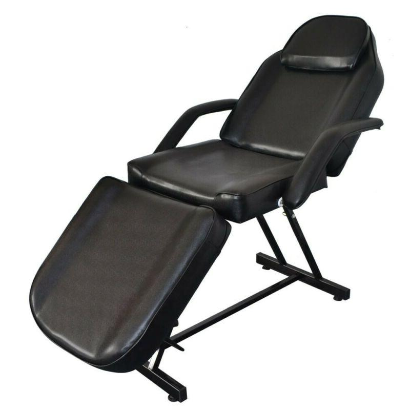 "73"" Portable Spa Bed Beauty Massage Table Chair Balck"