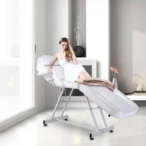 """75"""" Portable White Table Chair Parlor Spa Salon Bed"""