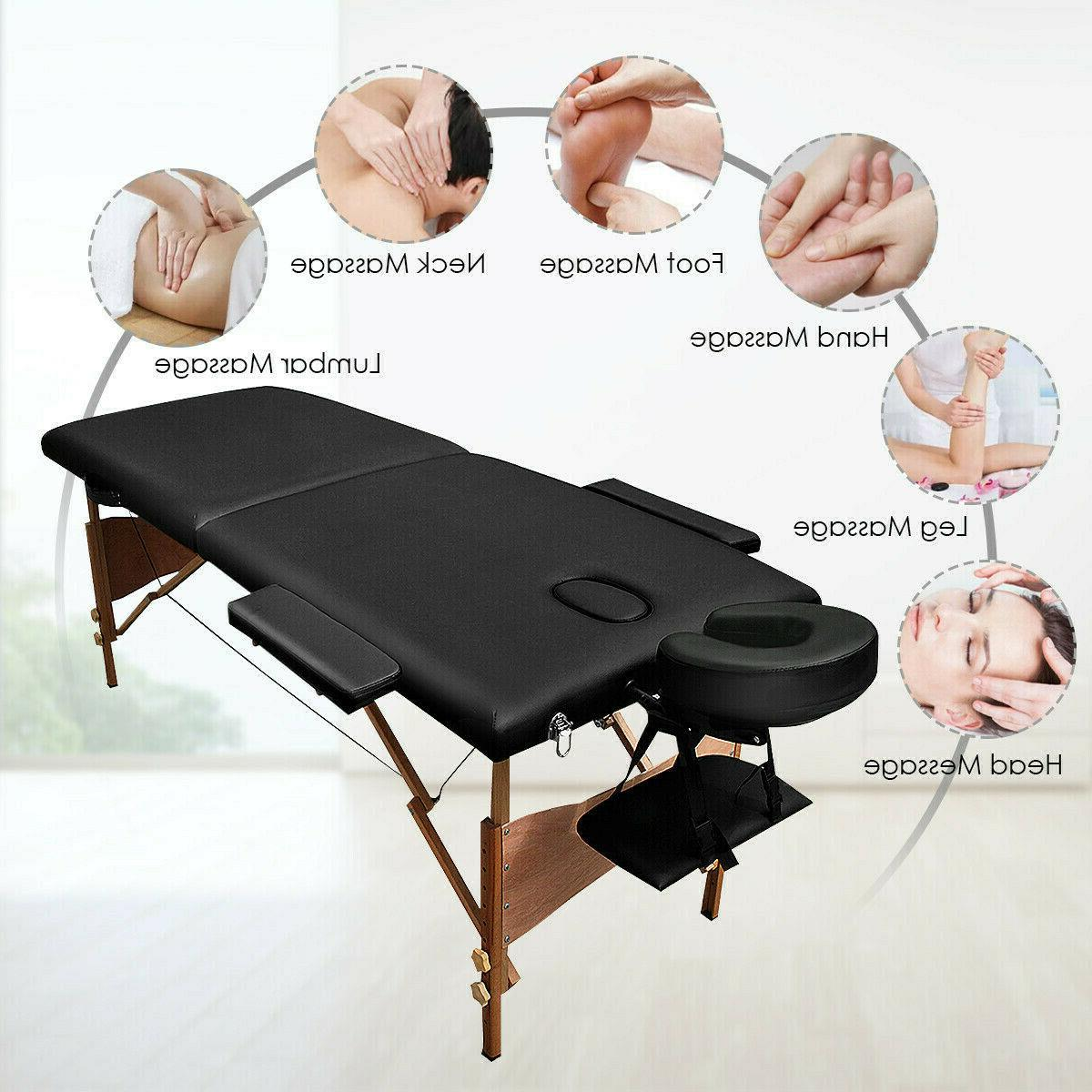 "84""L Fold Table Facial Tattoo with Free Case"