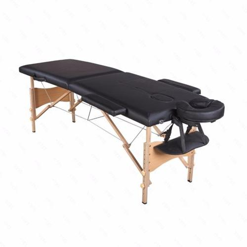 "84""L Fold Portable Massage Bed Tattoo with Case"